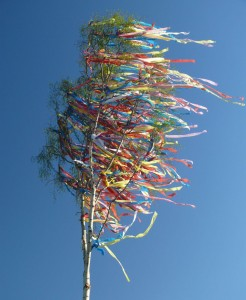 Like prayer flags, these ribbons spread love to the winds